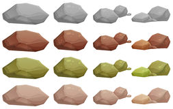 Different rocks Stock Images