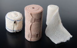Different rolls of medical bandages Stock Image
