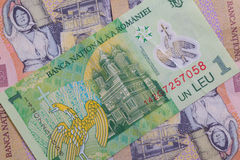 Different Romanian Lei Banknotes Stock Photography