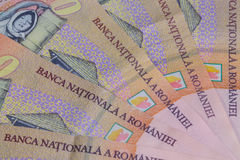 Different Romanian Lei Banknotes Royalty Free Stock Photography
