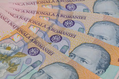 Different Romanian Lei Banknotes Royalty Free Stock Photo
