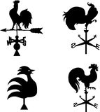 Different roof cocks in black color Stock Photos