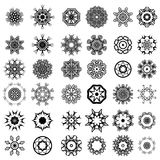 Different Rosettes Design. Set of Different Tribal Rosettes Tattoo Design Isolated on White Background. Polynesian Design Royalty Free Stock Photography