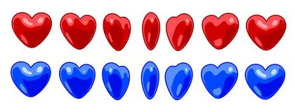 Different rotation heart. Stock Image