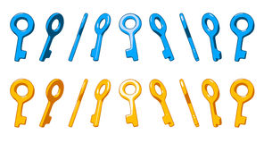 Different rotation key Stock Photography