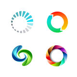 Different Round Circle Sign Logo Set Royalty Free Stock Photography