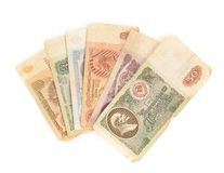 Different rubles banknotes USSR Royalty Free Stock Images