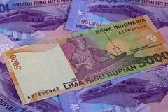 Different rupiah banknotes Stock Photos