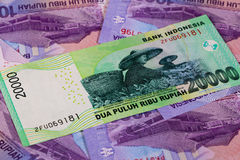 Different rupiah banknotes Stock Images