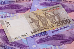 Different rupiah banknotes from Indonesia Royalty Free Stock Images