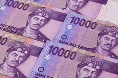 Different rupiah banknotes from Indonesia Stock Images
