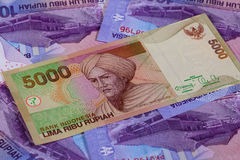 Different rupiah banknotes from Indonesia Stock Image