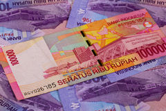 Different rupiah banknotes from Indonesia Royalty Free Stock Photo