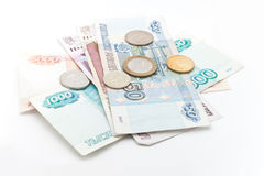 Different Russian money Stock Photo