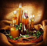 Different salad dressings Stock Image