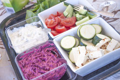 Different salads royalty free stock photography