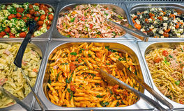 Different salads at a buffet Stock Photo
