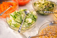 Different Salads Stock Images