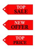 Different sale logos stock photography