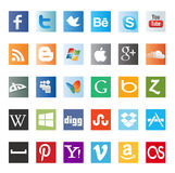 Different social media icons Royalty Free Stock Image