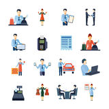 Different Salesmen Icons Set Royalty Free Stock Photos