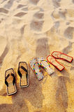 Different sandals Royalty Free Stock Images