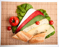Different sandwiches Stock Images