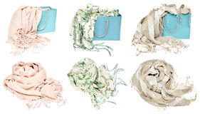 Different scarves Royalty Free Stock Image