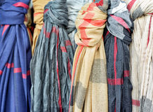 Different scarves Stock Photo