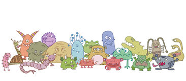 Different scary germs. Illustration Royalty Free Stock Photos