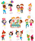 Different scenes at the party. Illustration stock illustration