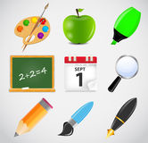 Different school icon vector illustration set1 Royalty Free Stock Photos