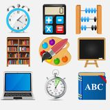 Different school icon vector illustration set2 Royalty Free Stock Image