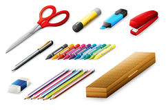 Different school supplies Royalty Free Stock Photo