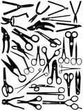 Different Scissors Set Royalty Free Stock Image