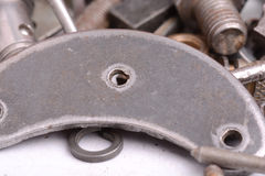 Different screws and other parts, close up Stock Photography