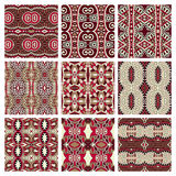Different seamless colored vintage geometric Stock Image