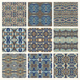Different seamless colored vintage geometric Royalty Free Stock Image
