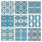 Different seamless colored vintage geometric Royalty Free Stock Photo