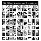 100 Different seamless patterns Royalty Free Stock Images