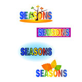 Different season. Executed in different options vector illustration