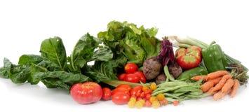 Different Seasonal Vegetables On White