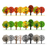Different seasons of forest. Illustration concept Royalty Free Stock Images