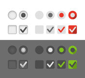 Different selection graphic buttons Stock Photos