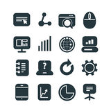 Different SEO icons set Royalty Free Stock Photos