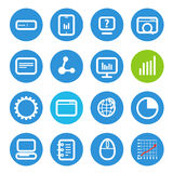 Different SEO icons set with rounded corners Royalty Free Stock Image