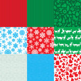 Different set of christmas backgrounds Stock Photography