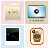 Different set of retro and new photographic subjects Stock Photo