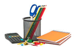 Different set of stationery. Royalty Free Stock Photography