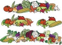 Different sets of color vegetables royalty free illustration